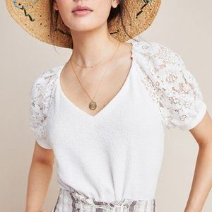 Sunday in Brooklyn | NWT Cady Lace Blouse White XS